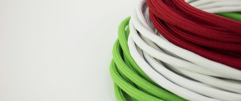 Cavi tessili multicolore