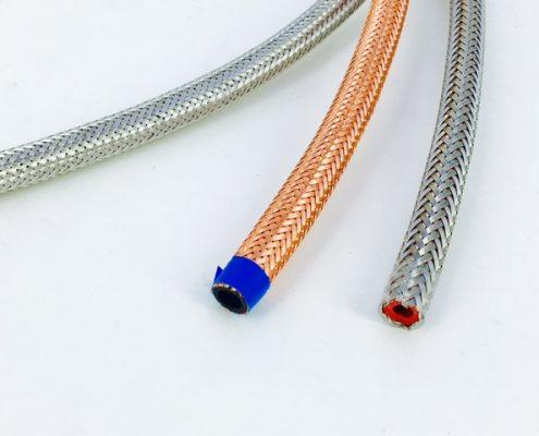 Tubi in silicone ed EPDM rivestiti in acciaio